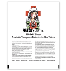 "Tatu-Derm single sheet, 6"" x 8"""