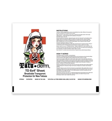 "Tatu-Derm 10 each 6"" x 4"" sheets"